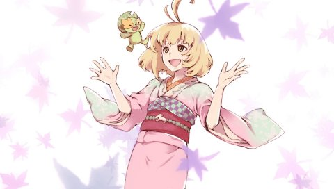 Нет экзорцист, шиими морияма, девушка, кимоно, радость