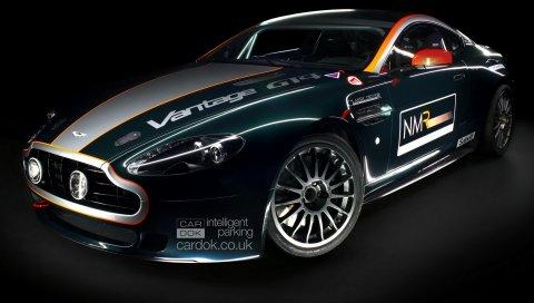 Aston martin, v8, vantage, 2009, синий, вид спереди, автомобили, спорт