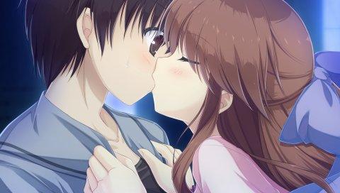 Mizu no miyako no patisserie, kanda mari, парень, девушка, поцелуй, спутанность сознания