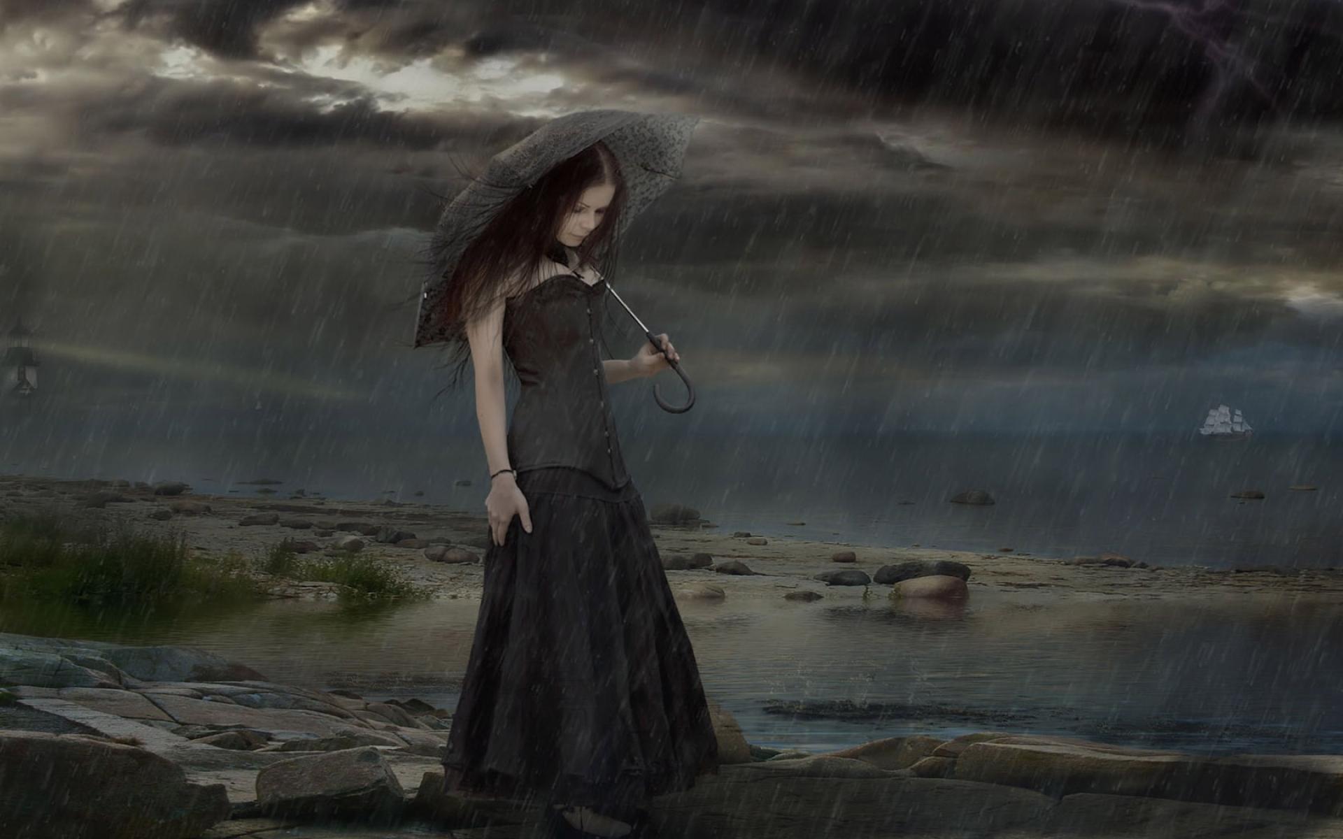 Картинки о дожде и грусти, месяц