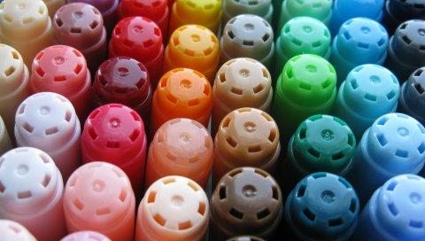 Маркеры, цветные карандаши, цветные, художественные