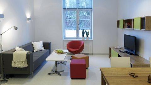 Интерьер, комната, минимализм, окно, свет, стиль
