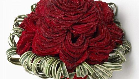 Розы, цветы, цветок, блеск, дизайн