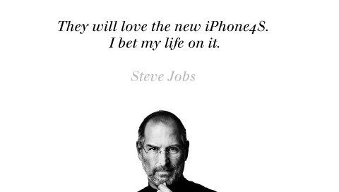 Steve jobs, iphone, bw, text