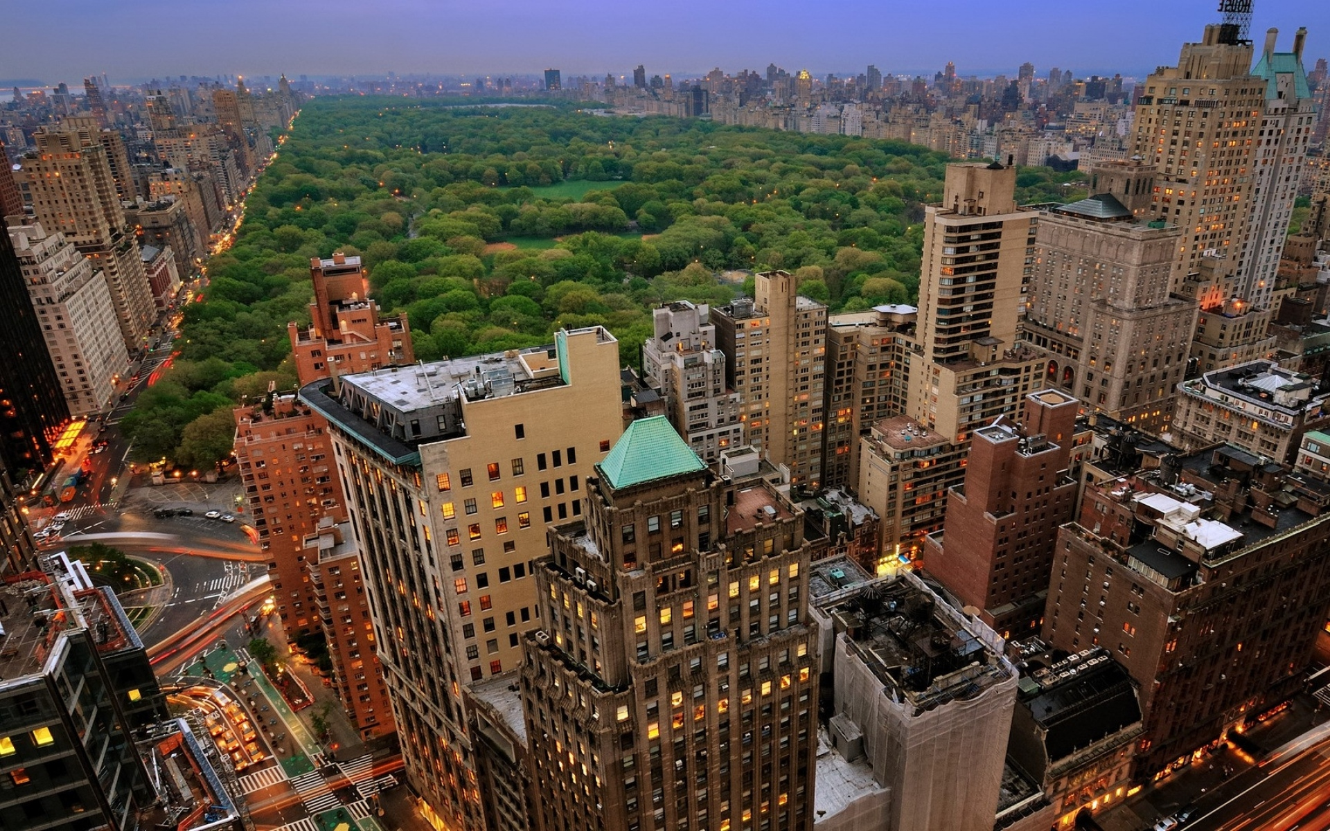 Картинки Нью-Йорк, Манхэттен, небоскребы, центральный парк фото и обои на рабочий стол