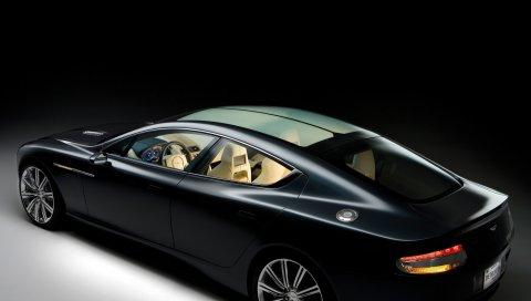 Aston martin, rapide, 2006, концепт-кар, черный, вид сбоку, стиль
