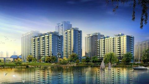 Город, здание, небоскреб, городской пейзаж, hdr
