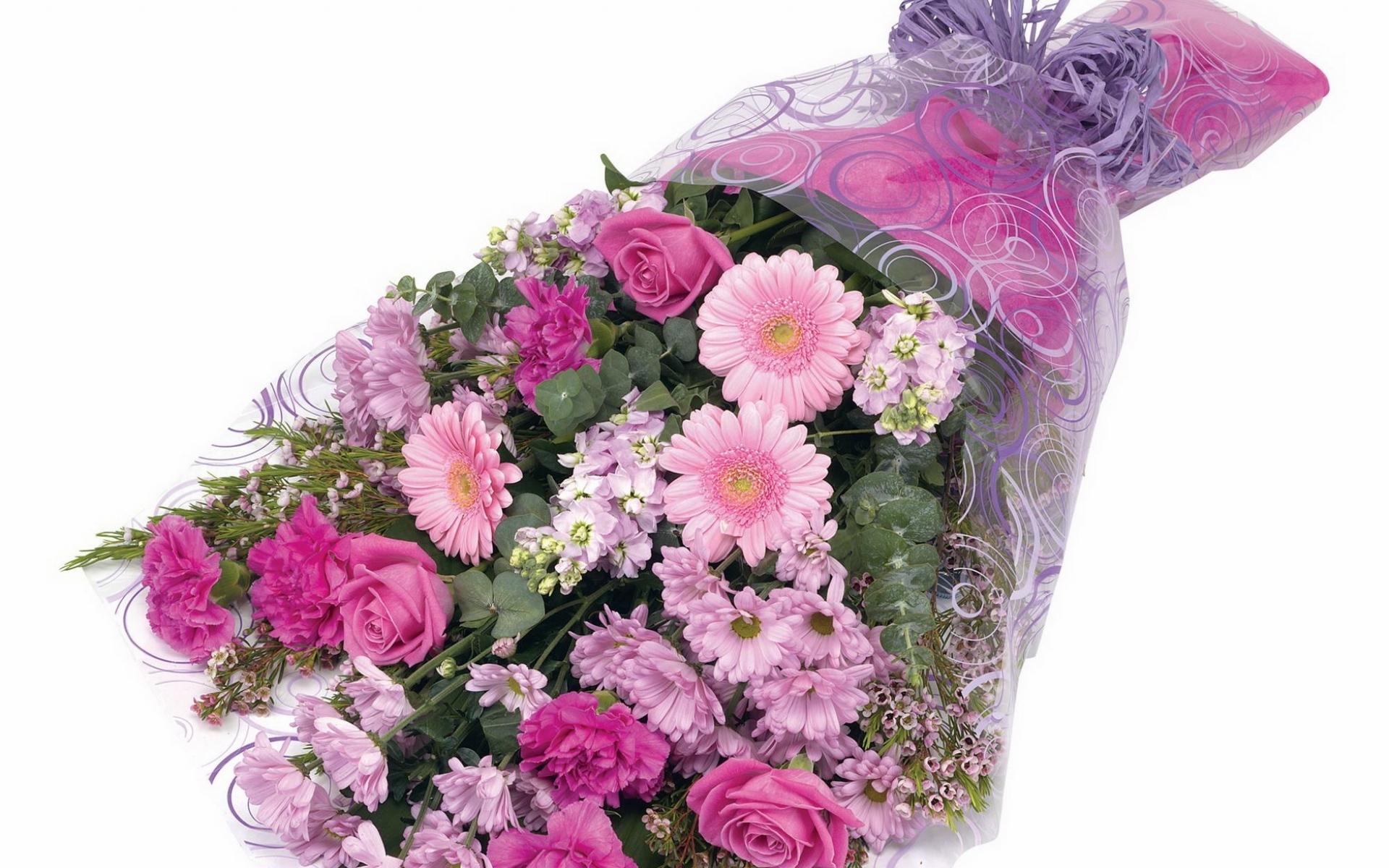 Картинки Розы, хризантемы, герберы, цветы, украшения фото и обои на рабочий стол