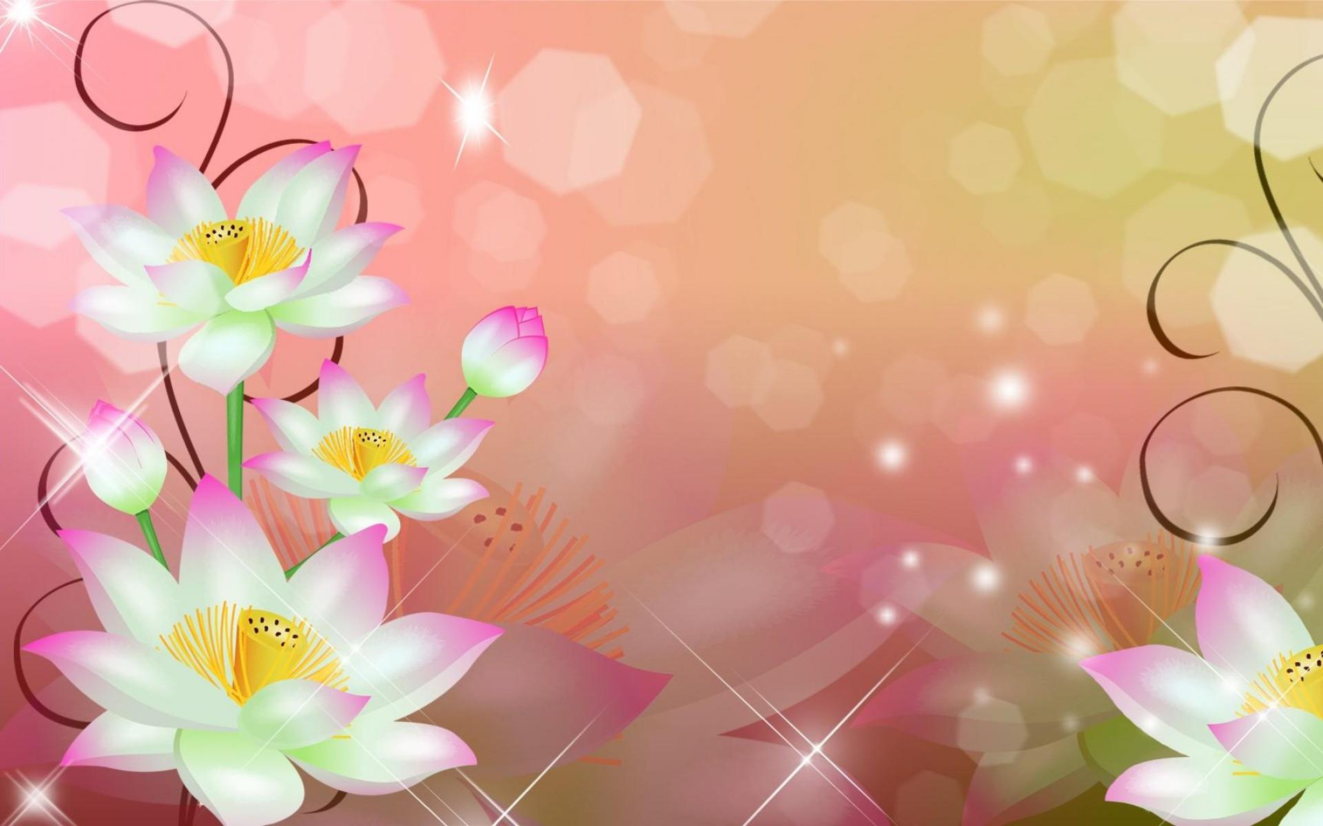 природа цветы графика nature flowers graphics скачать