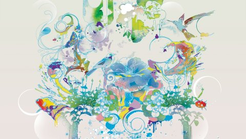 Шаблоны, цвета, цветные