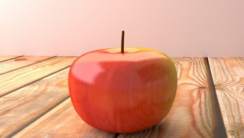 Яблоко, фрукты, поверхность, дерево