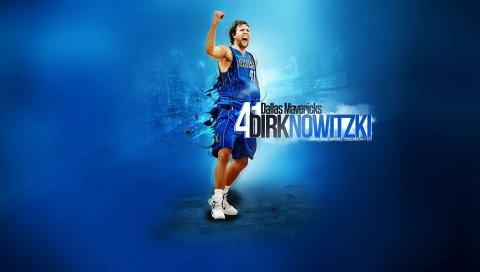 Dirk nowitzki, баскетболист, спорт, nba