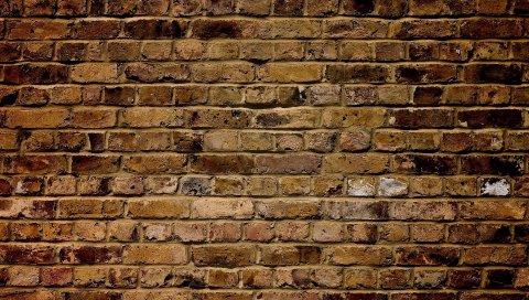 Стена, кирпич, структура, поверхность
