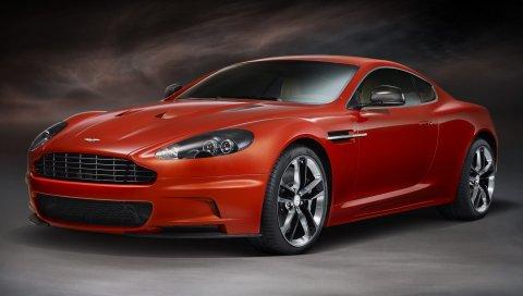 Aston martin dbs, 2011, красный, вид сбоку, спорт, авто