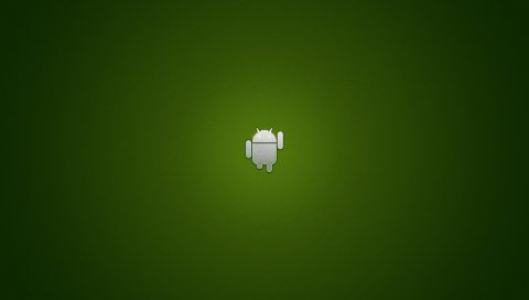 Андроид, робот, os, зеленый, серый