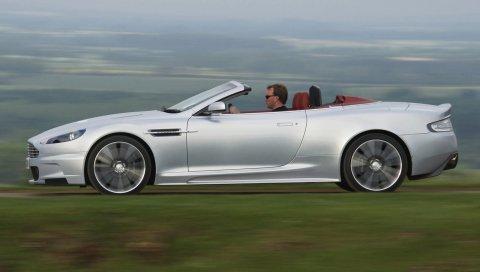 Aston martin, dbs, 2009, серебристый металлик, вид сбоку, стиль, автомобили, скорость