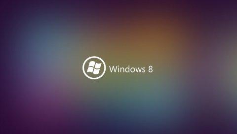Окна 8, фон, мигать, бренд, логотип