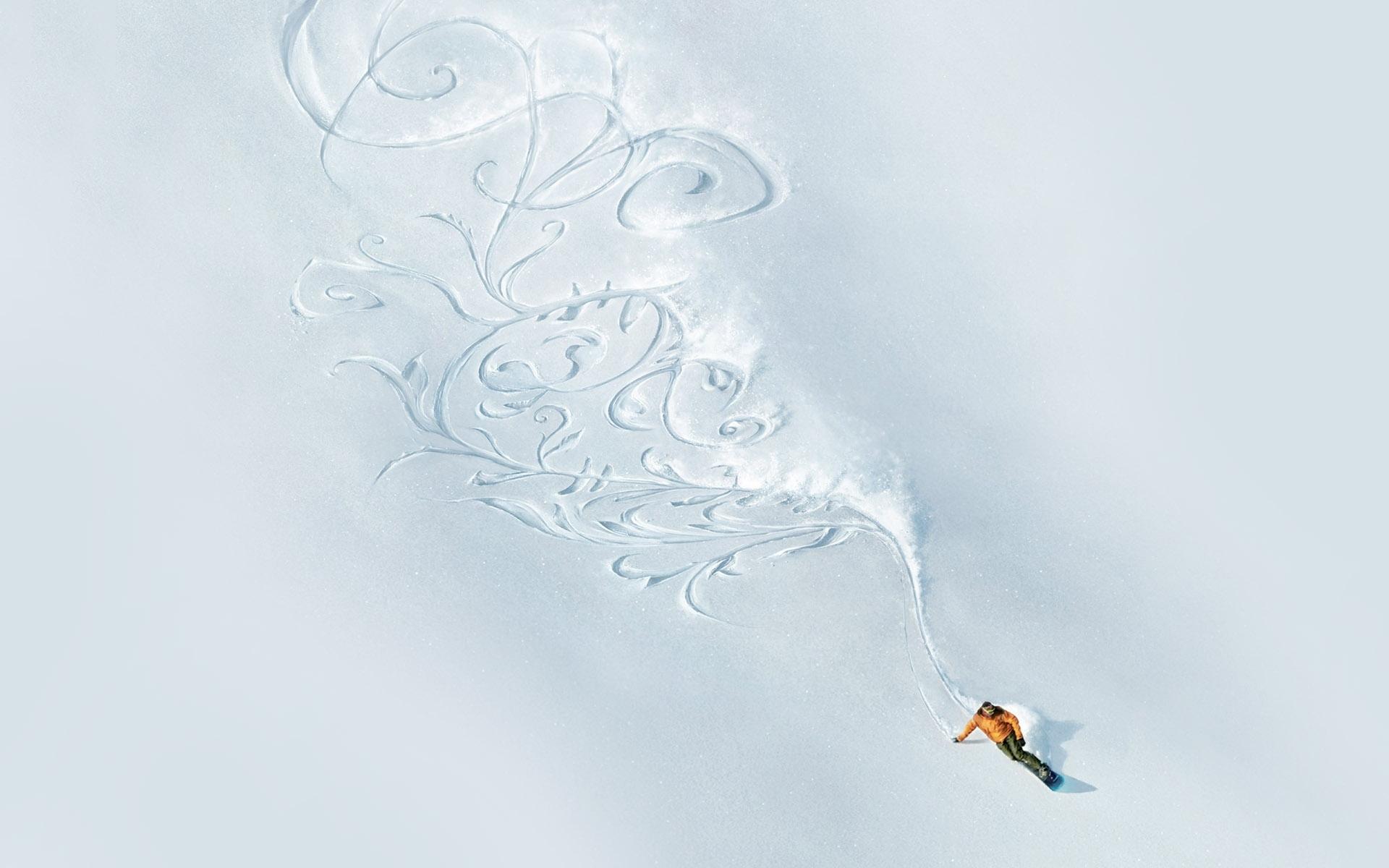 Снеговик на сноуборде  № 3290161  скачать