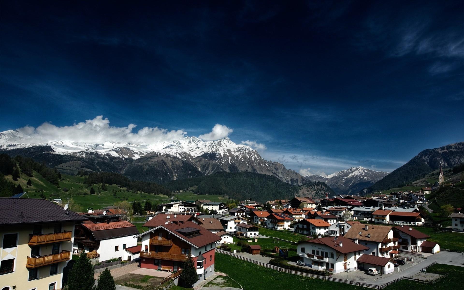 Картинки Швейцария, дома, горы, отдых, лес фото и обои на рабочий стол