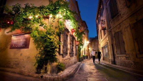 Франция, улица, вечеринка, романтика