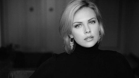 Шарлиз терон, знаменитость, актриса, блузка, блондинка