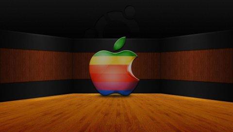 Apple, Mac, логотип, бренд, разноцветные