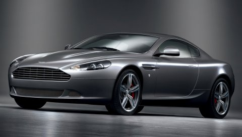 Aston martin, db9, 2008, металлический серый, вид сбоку, стиль, автомобили