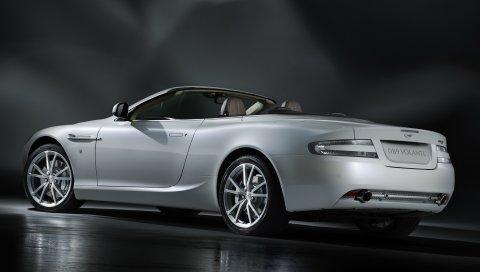Aston martin, db9, 2010, белый, вид сбоку, стиль, автомобиль, отражение