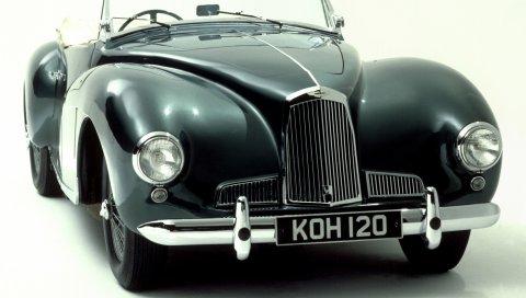 Aston martin, 1948, зеленый, вид спереди, стиль, ретро, ??авто