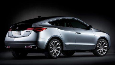 Acura, zdx, 2009, концепт-кар, металлик серый, вид сбоку, стиль, автомобили