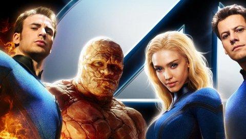 Фантастические 4, чудо, супергерои, фантастические четыре, команда, актеры, четыре, тростник, сусан, джонни, бен