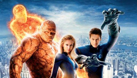 Фантастические четыре, фантастические 4, чудо, супергерои, команда