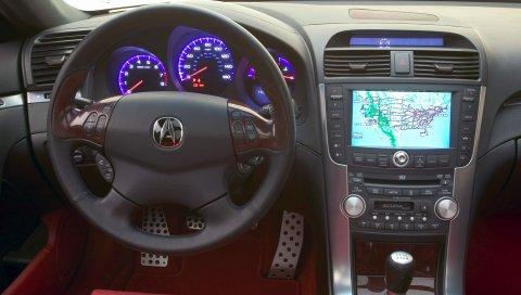 Acura, tl, 2003, концепт-кар, салон, салон, руль, спидометр