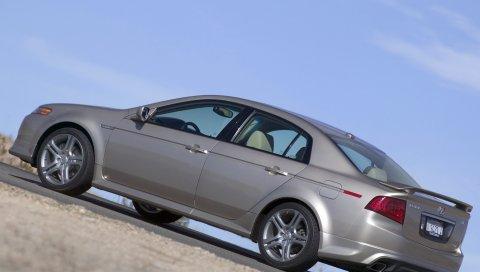 Acura, tl, 2004, металлический серый, вид сбоку, стиль, автомобили, небо, асфальт