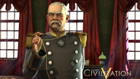 Сид Мейерз цивилизация, командир, комната, усы, медаль