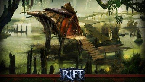 Рифт, мост, вода, строительство
