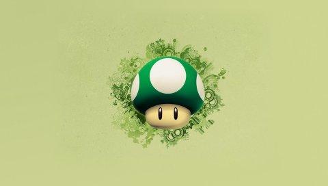 Марио, грибы, графика, фон
