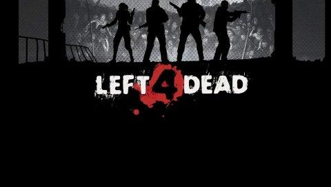 Осталось 4 мертвых, забор, зомби, персонажи