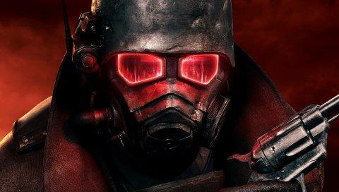 Выпад, солдат, маска, пистолет, шлем