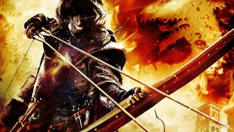 Драконы догма, лук, стрелы, огонь, зубы