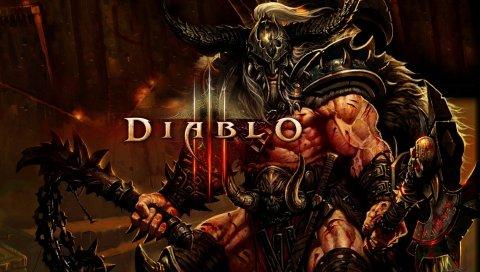 Diablo 3, варвар, рука, мышцы, имя, шлем, кровь