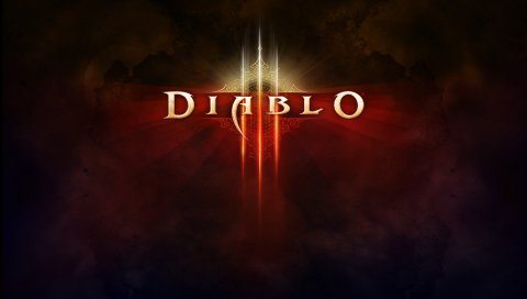 Diablo iii, товарный знак, шрифт, свет