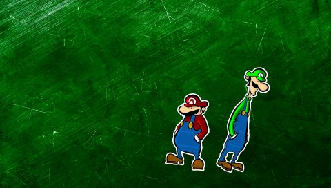 Марио, персонажи, усы, зеленые