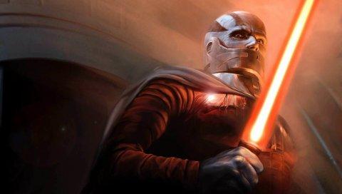 Звездные войны, старая республика, лысый, персонаж, световой меч, плащ