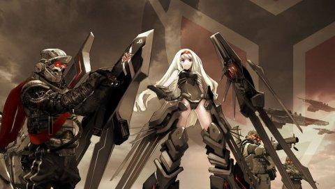Killzone, девушка, фан-арт, солдаты, глаза