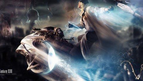 Окончательная фантазия xiii, характер, магия, летать, пальто