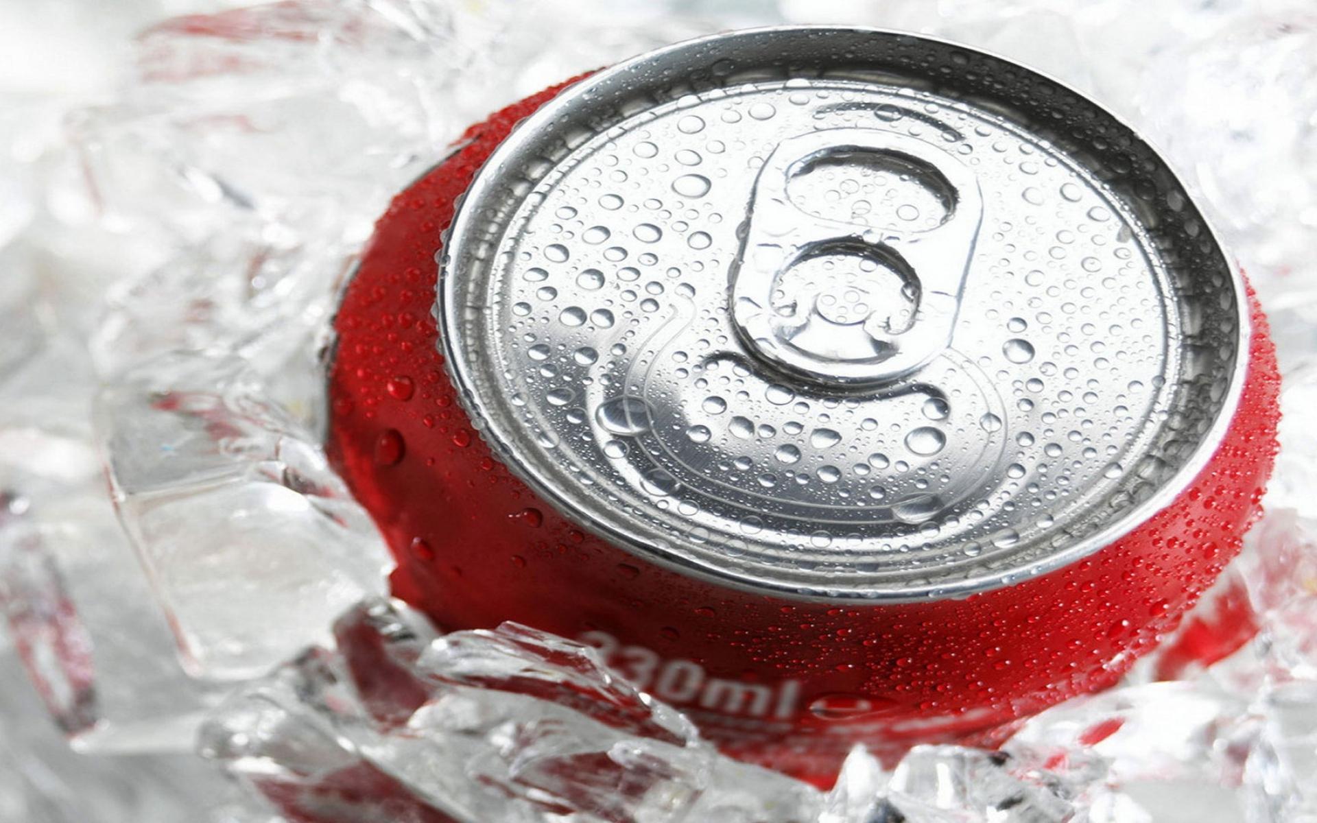 Картинки Кока-кола, пить, лед, банк фото и обои на рабочий стол