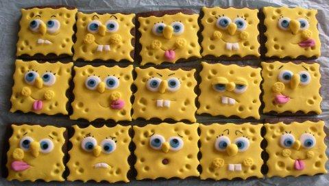 Печенье, партия, губка, персонаж, круто