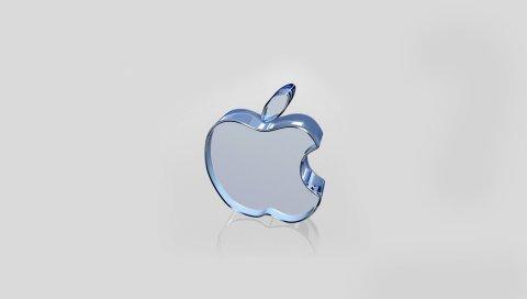 Яблоко, mac, бренд, стекло, логотип, поверхность