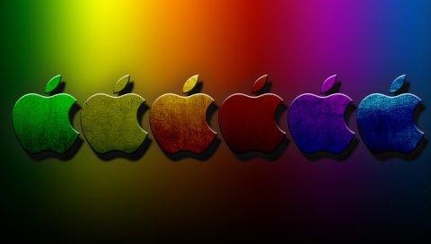 Apple, Mac, набор, логотип, бренд